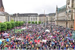 Friedliche G20-Protestdemo in Hamburg